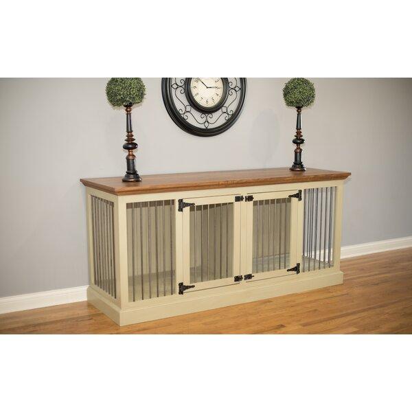 eagle furniture cozy k9 double wide medium credenza pet crate u0026 reviews wayfair