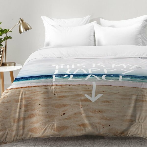 East Urban Home Happy Place X Beach Comforter Set | Wayfair