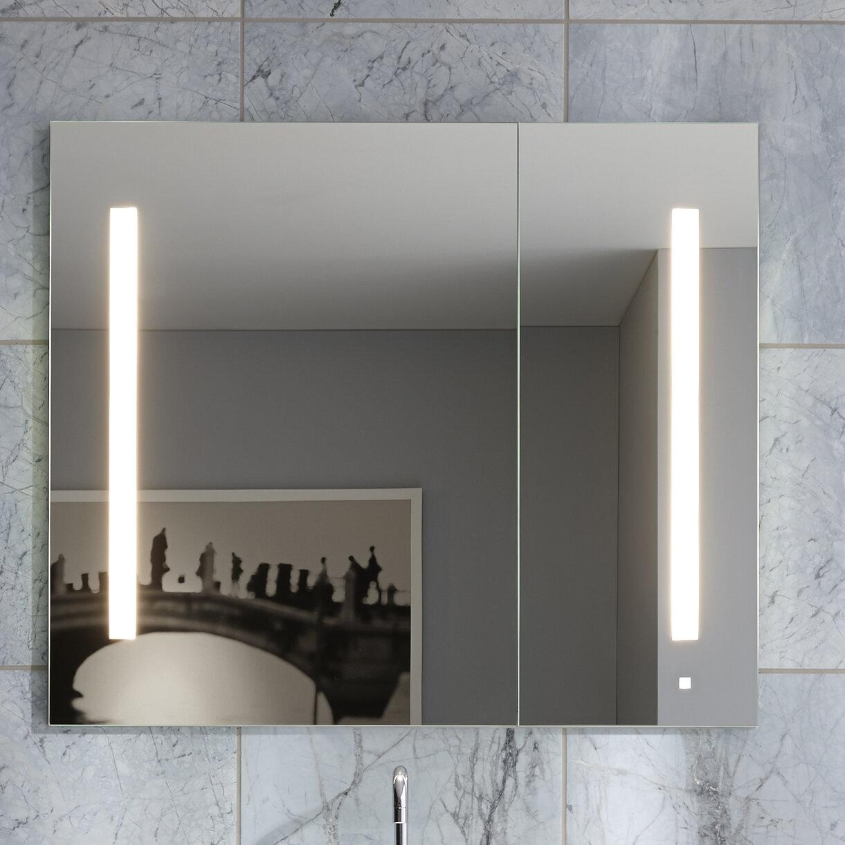 furniture with in satin medicine reception white of aluminum cabinet mirrored x mirror robern elegant shelf kohler