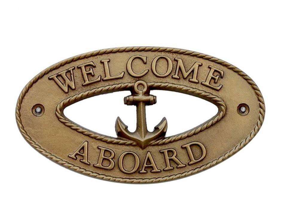 Breakwater Bay Welcome Aboard Oval Wall Décor | Wayfair