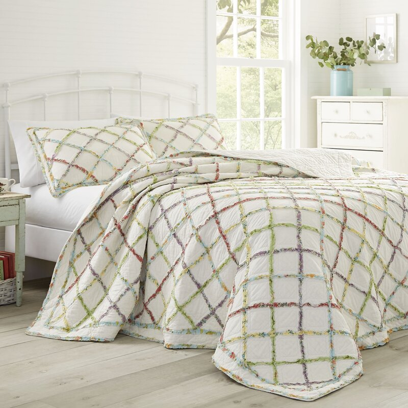 Laura Ashley Home Ruffled Garden Cotton Reversible Quilt By Laura Ashley Home Reviews Wayfair