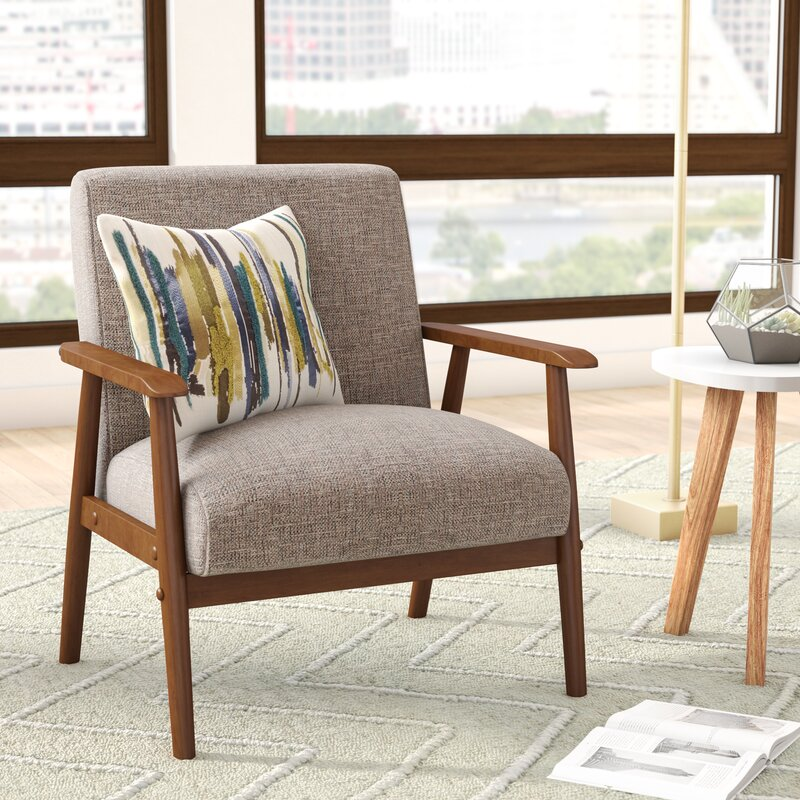 Superbe Derryaghy Wood Frame Armchair
