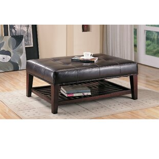 Iddings Charming Leather Tufted Cocktail Ottoman ae1c0e8d69a8