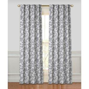 tantris geometric room darkening rod pocket curtain panels set of 2
