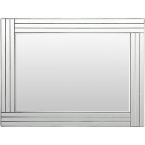 Rectangle Glass Frame Accent Wall Mirror