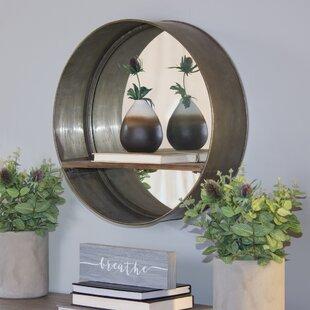 93ae48b9b58f Addilyn Metal Accent Mirror with Shelf