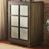 Window Pane Door Wood Cabinet