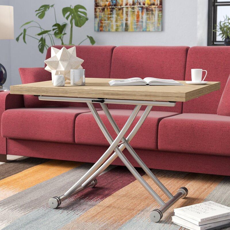 30 Live Edge Coffee Tables That Transform The Living Room: Latitude Run Fredericks Transforming Coffee Table