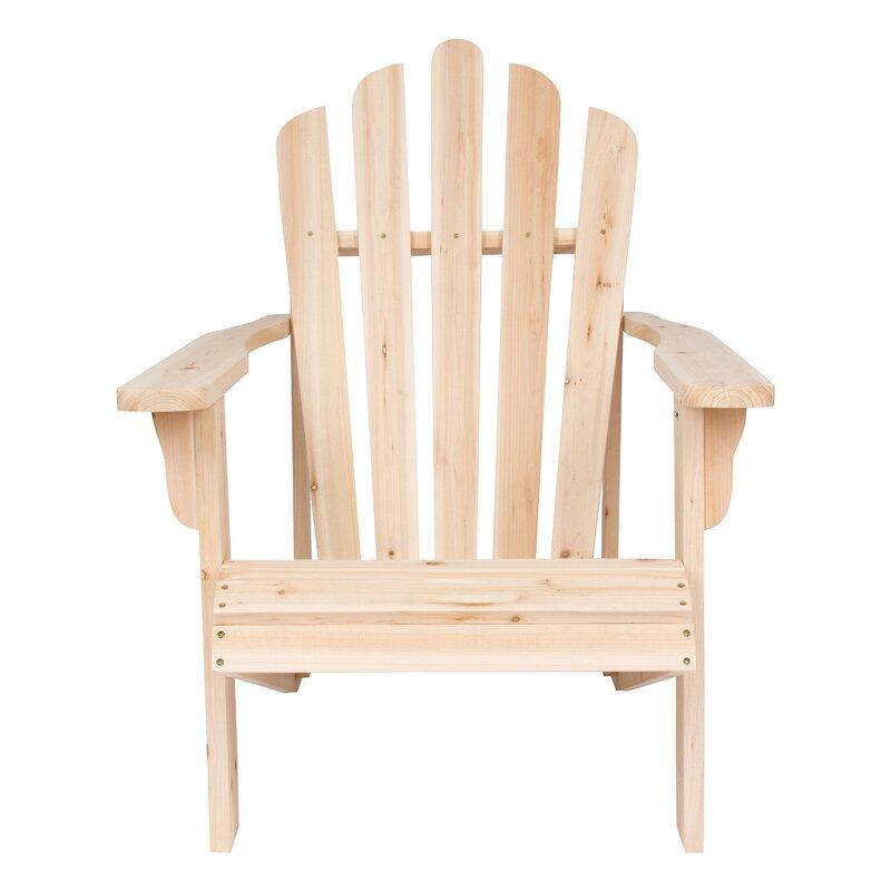 Attractive Burtville Solid Wood Adirondack Chair