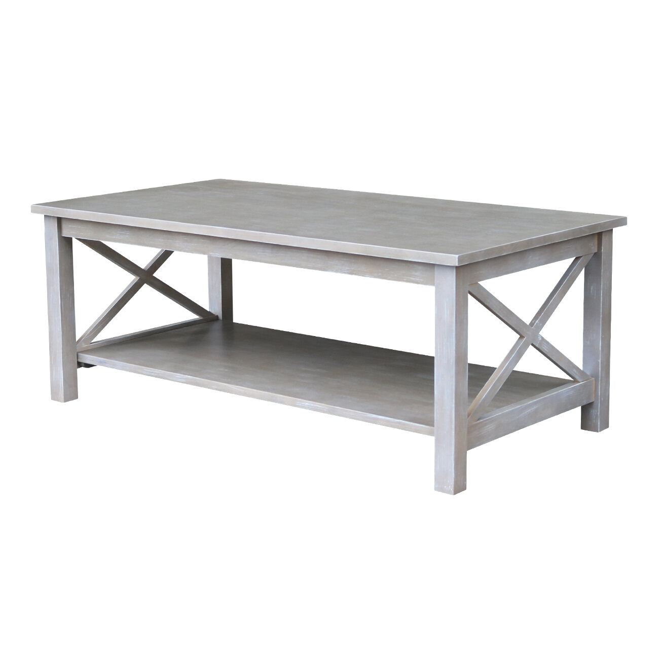 49 Coffee Table Nickel Finish Solid Iron Casters: Highland Dunes Gabby Coffee Table