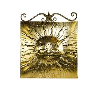 Twist Metal Sun Wall Decor