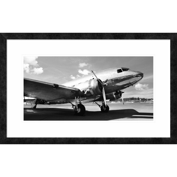 Global Gallery Vintage airplane\' by Gasoline Images Framed Graphic ...