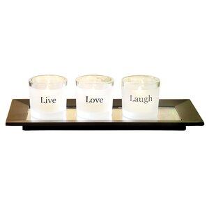 Glass Votive (Set of 3)