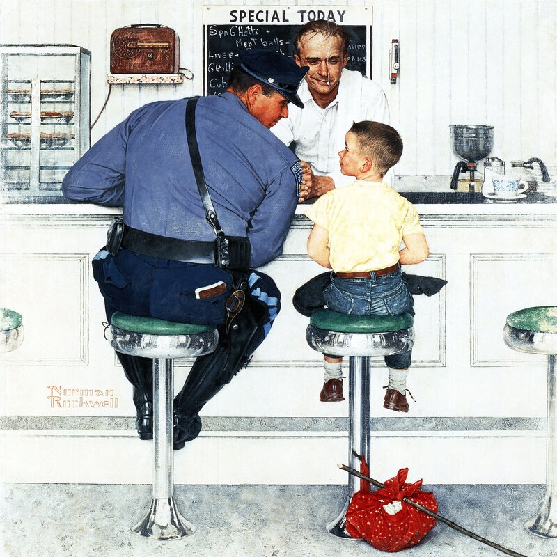 Image result for norman rockwell man in recliner