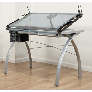 Futura Glass Drafting Table