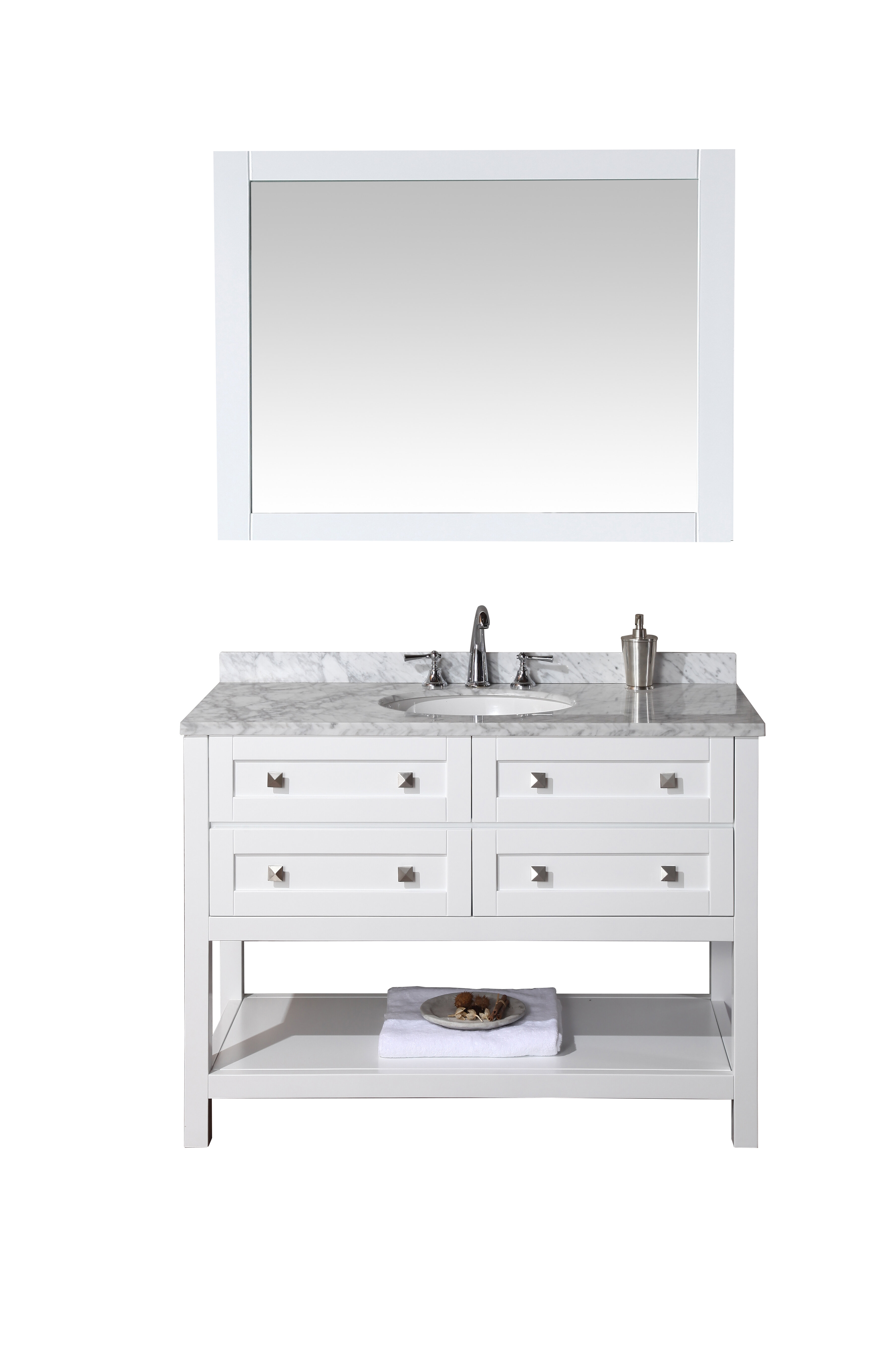 brayden studio whaley 48 single sink bathroom vanity set with