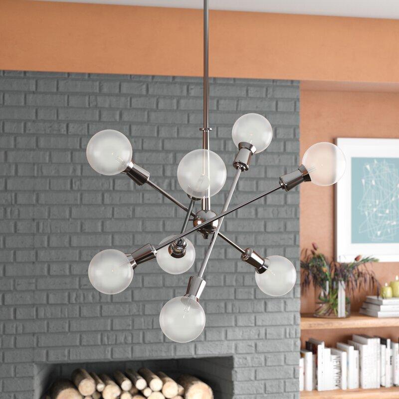 Lexington 8-Light Chandelier & Langley Street Lexington 8-Light Chandelier u0026 Reviews | Wayfair