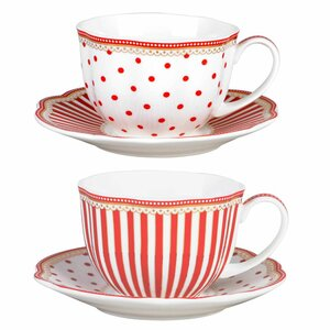 Scallop 9 Oz. Coffee Cup and Saucer