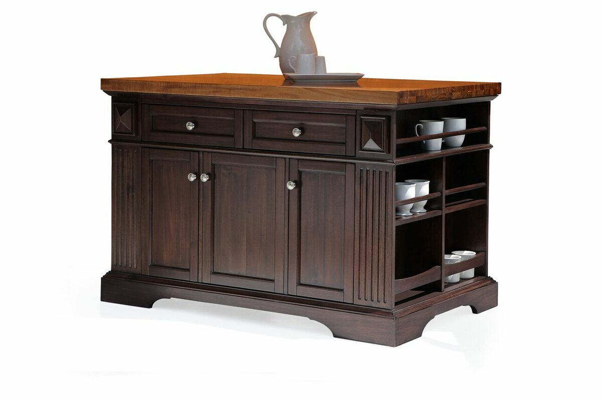 Fifth Furniture Greenwich Kitchen Island With Butcher Block Top : 222 Fifth Furniture Greenwich Kitchen Island with Butcher Block Top & Reviews Wayfair