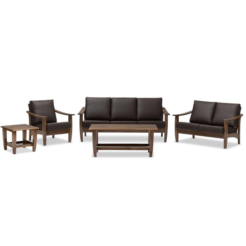 Latitude Run Ahart 5 Piece Living Room Set & Reviews | Wayfair