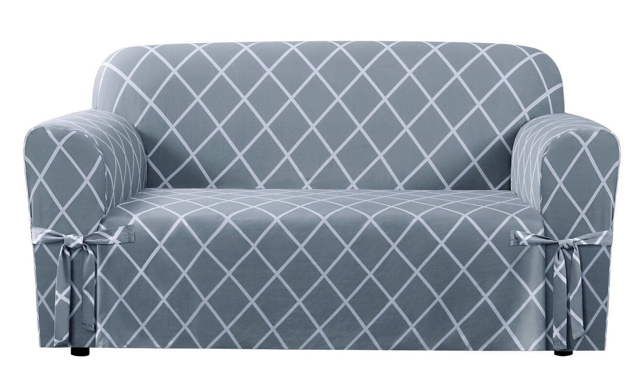 n reversible grey depot slipcovers the home laurina collection stonewashed b bay slipcover protector living great room storm furniture loveseat
