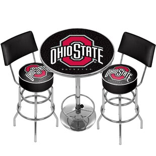 NCAA Game Room Combo 3 Piece Pub Table Set