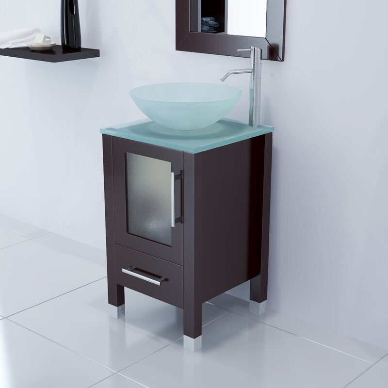 "ivy bronx candlewood 18"" single bathroom vanity set & reviews 