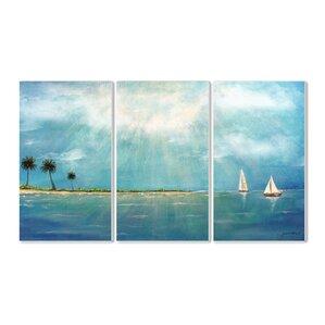u0027azure breezeu0027 3 piece painting print set u0027