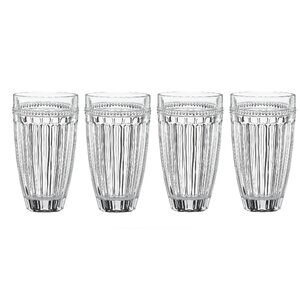French Perle Crystal 16 oz. Highball Glass (Set of 4)