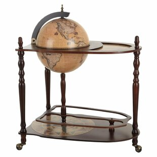 Globe drinks cabinet wayfair retro world map bar and serving cart gumiabroncs Image collections