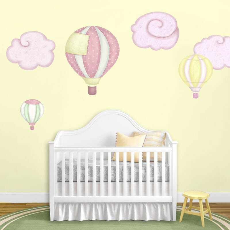 Hot Air Balloons And Cloud Wall Stickers Part 44
