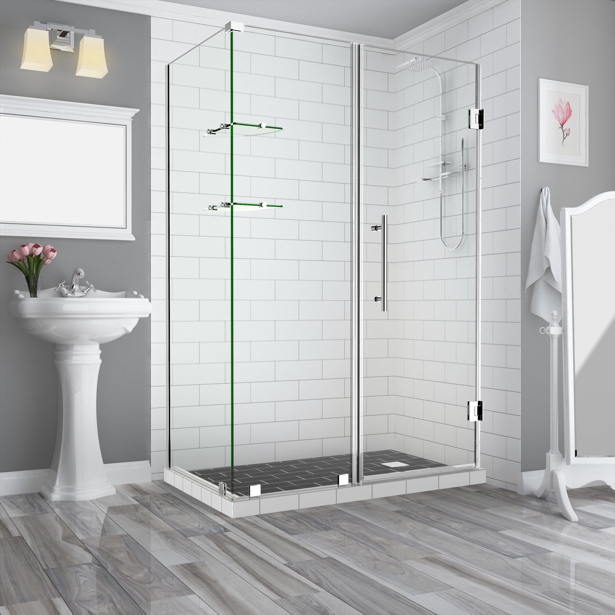 Bromley Gs 55 X 72 Hinged Semi Frameless Shower Door