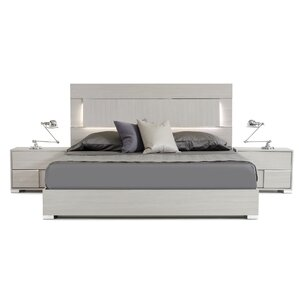 Camron Solid Wood Panel Bed by Orren Ellis