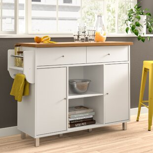 Hogle Kitchen Island with Spice Rack and Towel Rack