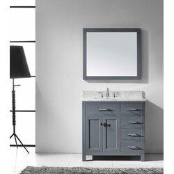 Virtu USA Caroline Parkway 36 Single Bathroom Vanity Set With