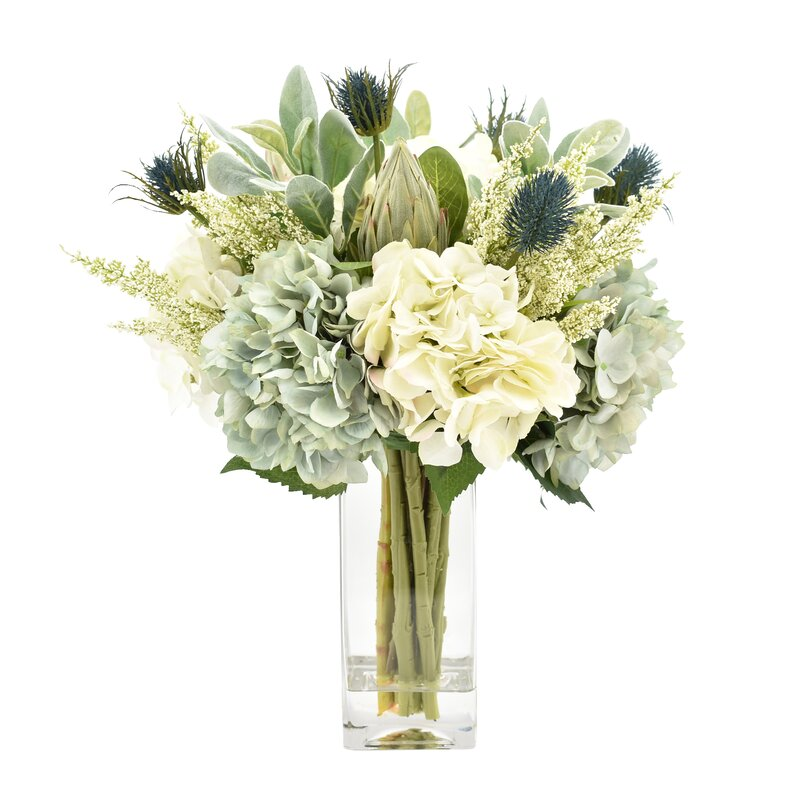 Trending Searches  sc 1 st  Joss \u0026 Main & Mixed Floral Arrangement in Glass Vase \u0026 Reviews   Joss \u0026 Main