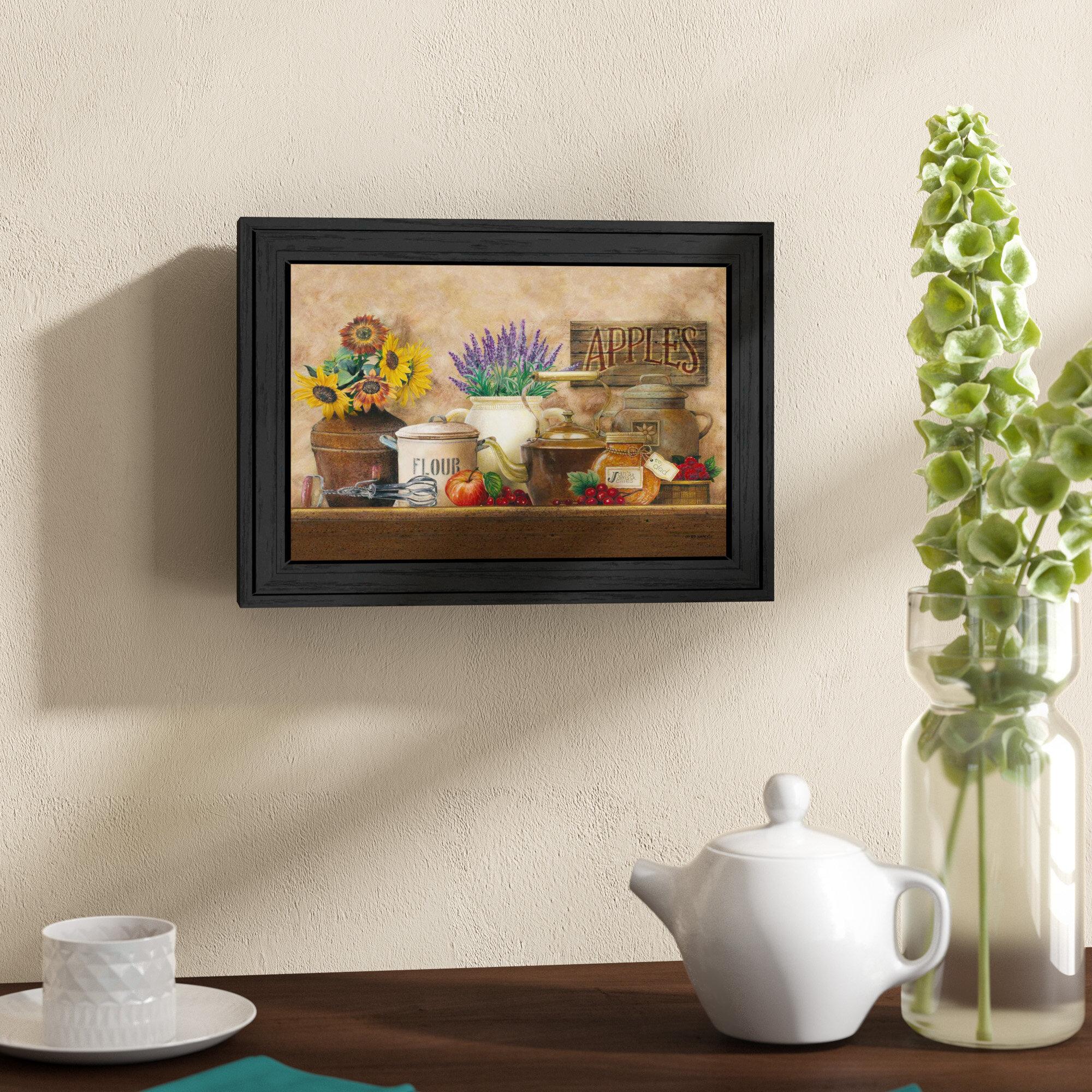 Antique Kitchen Framed Graphic Art Print