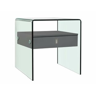 Modern Glass Top Nightstands