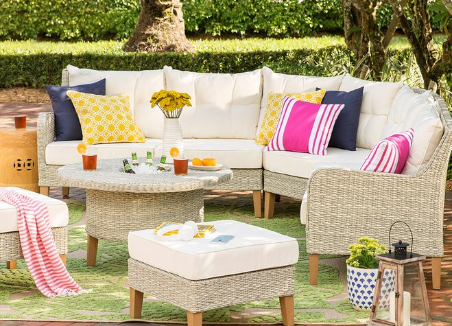 While we'll always support an outdoor overhaul, sometimes a few décor swaps  are all it takes to transform a lackluster patio into something special. - Make Over Your Patio (Without Buying New Furniture) Wayfair