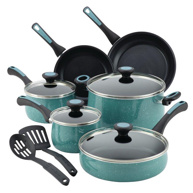 Paula Deen Riverbend Aluminum 12 Piece Nonstick Cookware Set