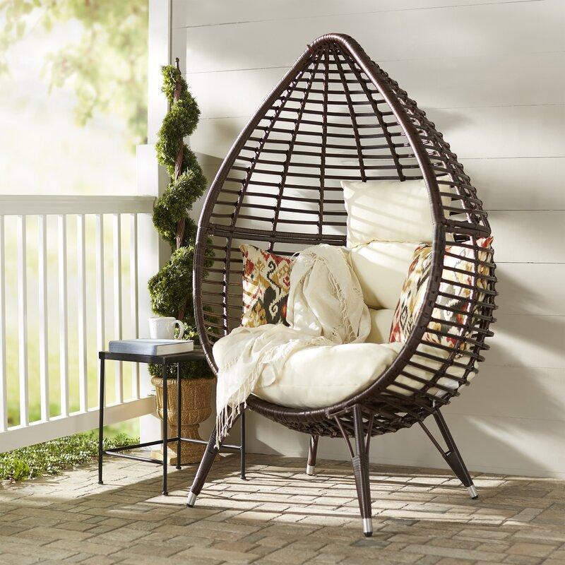Langley Street Teardrop Patio Chair With Cushions Reviews Wayfair