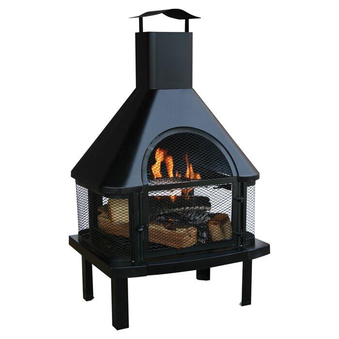 Uniflame Steel Wood Burning Outdoor fireplace & Reviews   Wayfair