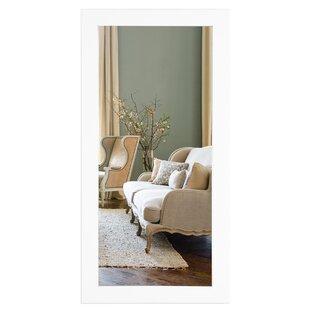 Penhook Oversized White Floor Mirror