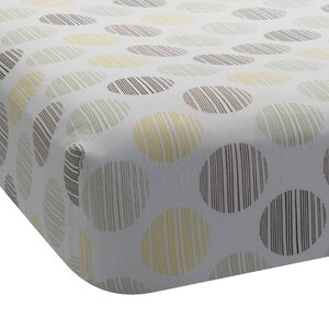 Giraffe Dot Fitted Crib Sheet