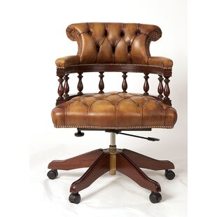 Captains Mid Back Leather Bankers Chair
