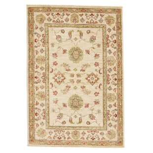 Coupland Hand Knotted Wool Beige Rug by Rosalind Wheeler