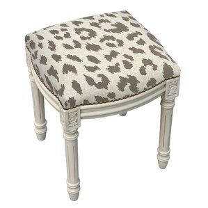 jodie animal print vanity stool