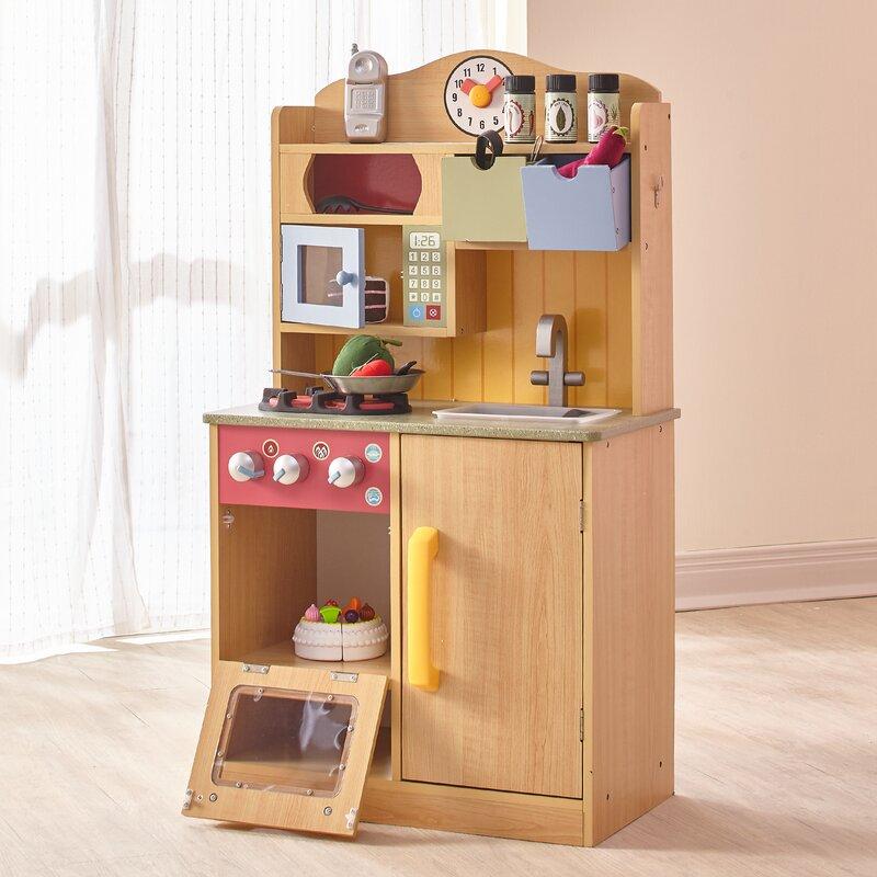 Teamson Kids 5 Piece Little Chef Wooden Play Kitchen Set