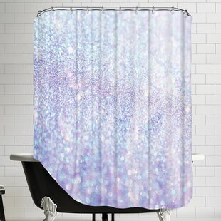 Silver Style Polyester Shower Curtain