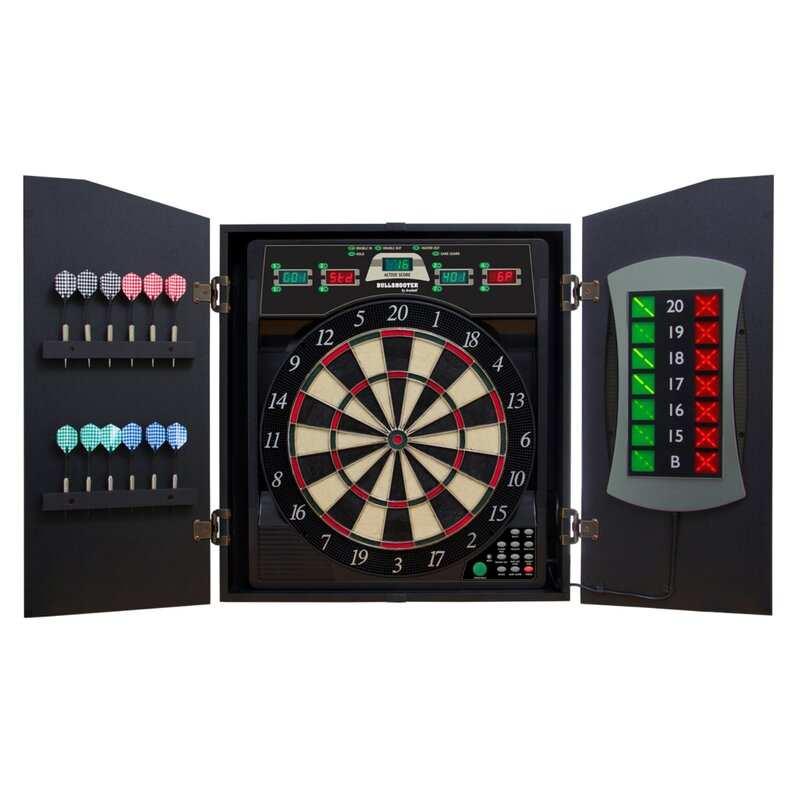 Arachnid Cricketmaxx 5.0 Dartboard Cabinet Set & Reviews   Wayfair